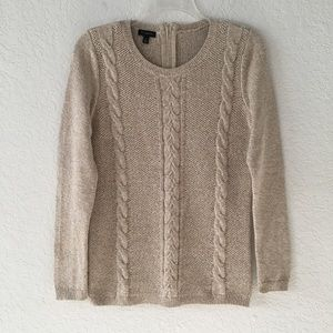 Talbots Oatmeal Cable Knit Sweater